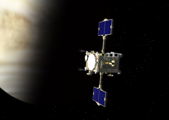 金星探査機「あかつき」(イメージ) 画像提供:(C) 宇宙航空研究開発機構(JAXA)