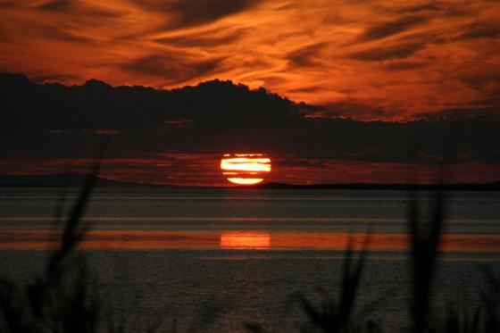 サロマ湖の夕陽3