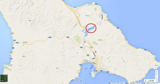 道南の地図 Googlemapより