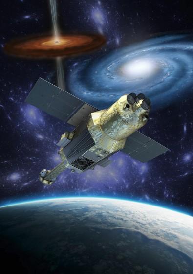 X線天文衛星「ひとみ」イメージ図  画像提供:JAXA
