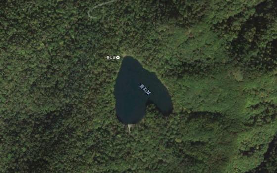 えりも町・豊似湖 はーとマークの形で話題に