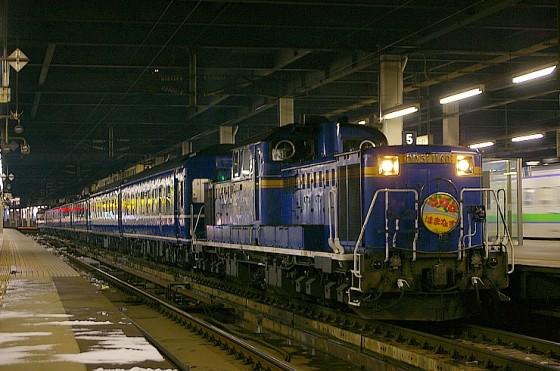 札幌駅に停車中の急行はまなす  Wikipediaより引用
