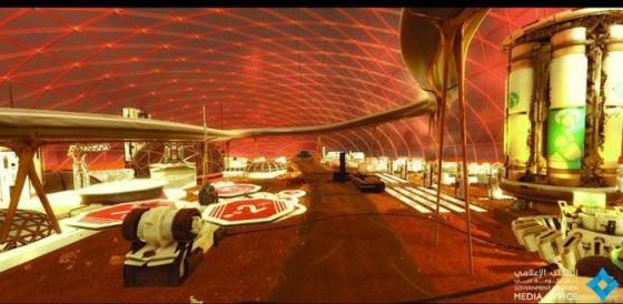 UAEの火星都市計画 イメージ図2  ムハンマド氏のツイッターより引用