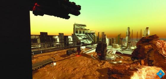 UAEの火星都市計画 イメージ図1  ムハンマド氏のツイッターより引用