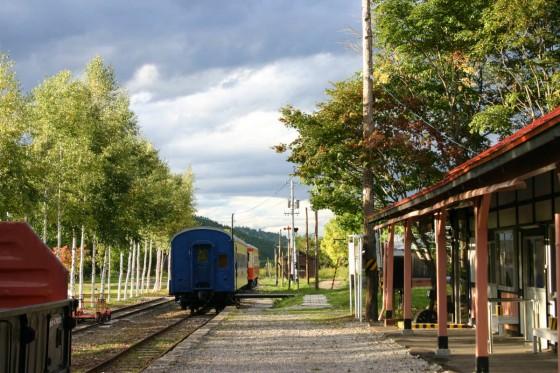 旧北見相生駅の構内。2003年撮影。
