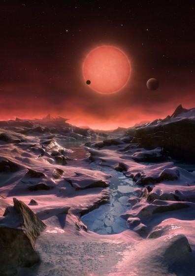 惑星TRAPPIST-1dの想像図 Wikipediaより引用