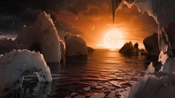 TRAPPIST-1fの想像図 Wikipediaより引用