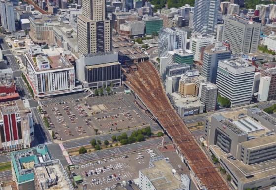 札幌駅東側の風景 GoogleMapより引用